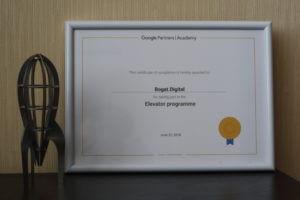 Завершение обучения в программе Google Elevator
